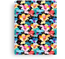 Seamless graphic pattern with beautiful flowers  Canvas Print