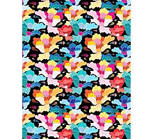 Seamless graphic pattern with beautiful flowers  Photographic Print