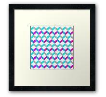 Bold Bright Trendy Optical Illusion Color Blocks Geometric Print Framed Print