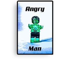 Angry Man! Canvas Print