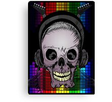 Skull, Guitars and Rock and Roll! Canvas Print