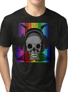 Skull, Guitars and Rock and Roll! Tri-blend T-Shirt