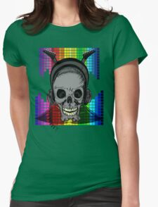Skull, Guitars and Rock and Roll! Womens Fitted T-Shirt