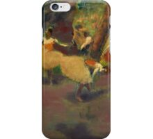 Edgar Degas - Before the Performance (1896) Impressionism iPhone Case/Skin
