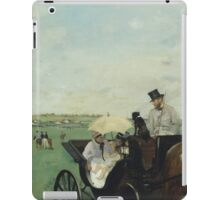Edgar Degas - At the Races in the Countryside (1869)  Impressionism iPad Case/Skin