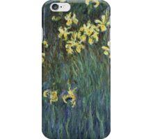 Claude Monet - Yellow Irises (c. 1914 - c. 1917)  Impressionism iPhone Case/Skin