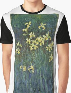 Claude Monet - Yellow Irises (c. 1914 - c. 1917)  Impressionism Graphic T-Shirt