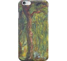 Claude Monet - Weeping Willow , Impressionism) iPhone Case/Skin