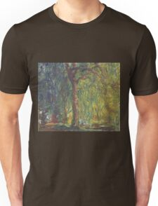 Claude Monet - Weeping Willow , Impressionism) Unisex T-Shirt