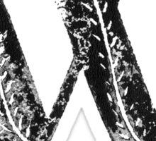Serif Stamp Type - Letter W Sticker