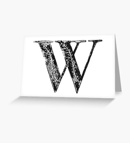 Serif Stamp Type - Letter W Greeting Card