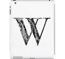 Serif Stamp Type - Letter W iPad Case/Skin