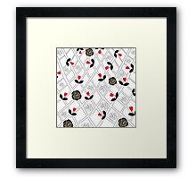 Little red flowers Framed Print