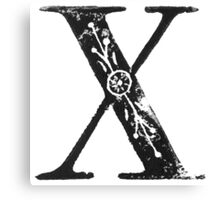 Serif Stamp Type - Letter X Canvas Print