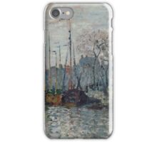 Claude Monet - View of the Prins Hendrikkade and the Kromme Waal in Amsterdam 1874  Impressionism iPhone Case/Skin