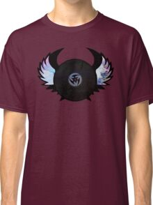 Vinyl Records with Wings - Retro Grunge Vintage Art - Music DJ! Classic T-Shirt