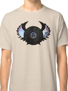 Vinyl Records with Wings - Retro Grunge Vintage Art - Music DJ! Classic T-Shirt