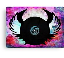 Vinyl Records with Wings - Retro Grunge Vintage Art - Music DJ! Canvas Print