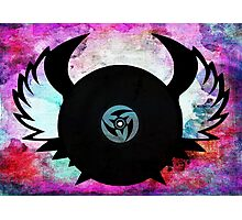 Vinyl Records with Wings - Retro Grunge Vintage Art - Music DJ! Photographic Print