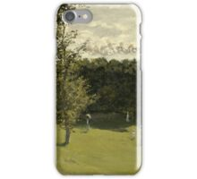 Claude Monet - Train in the Countryside , Impressionism iPhone Case/Skin