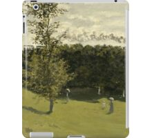 Claude Monet - Train in the Countryside , Impressionism iPad Case/Skin