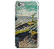 Claude Monet - Three Fishing Boats (1886)  Impressionism iPhone Case/Skin