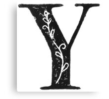 Serif Stamp Type - Letter Y Canvas Print