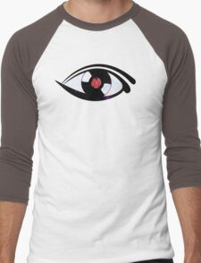 Eye Heart Vinyl (I Love Vinyls) Modern Conceptual Art Vinyl Records Music Men's Baseball ¾ T-Shirt