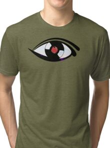 Eye Heart Vinyl (I Love Vinyls) Modern Conceptual Art Vinyl Records Music Tri-blend T-Shirt