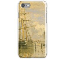 Claude Monet - The Seine at Rouen ,Impressionism iPhone Case/Skin