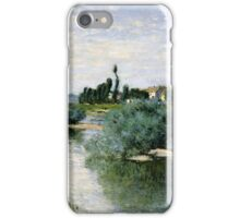 Claude Monet - The Seine at Lavacourt ,Impressionism iPhone Case/Skin