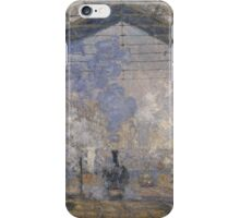 Claude Monet - The Saint-Lazare Station ,Impressionism iPhone Case/Skin