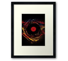 Vinyl Record Retro Grunge with Paint and Scratches - Music DJ! Framed Print