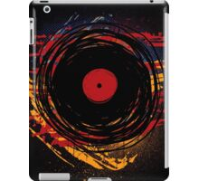 Vinyl Record Retro Grunge with Paint and Scratches - Music DJ! iPad Case/Skin