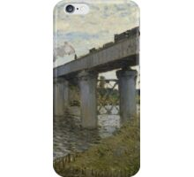Claude Monet - The Railroad bridge in Argenteuil  Impressionism iPhone Case/Skin