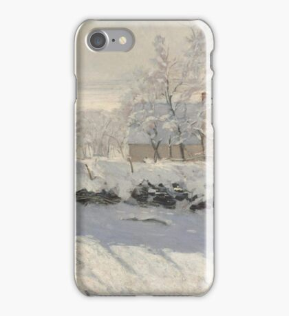 Claude Monet - The Magpie  Impressionism iPhone Case/Skin