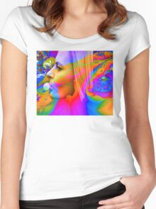 Bubble gum Women's Fitted Scoop T-Shirt