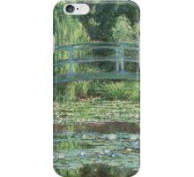 Claude Monet - The Japanese bridge, Impressionism iPhone Case/Skin