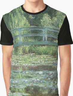 Claude Monet - The Japanese bridge, Impressionism Graphic T-Shirt