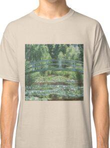 Claude Monet - The Japanese bridge, Impressionism Classic T-Shirt