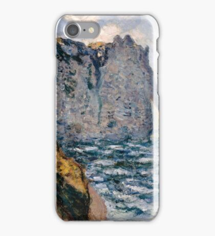 Claude Monet - The Cliff of Aval Etrétat, Impressionism iPhone Case/Skin