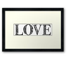 Serif Stamp Type - Love Framed Print