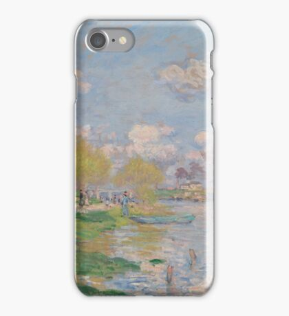 Claude Monet - Spring by the Seine, Impressionism iPhone Case/Skin