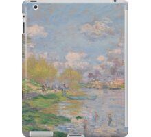 Claude Monet - Spring by the Seine, Impressionism iPad Case/Skin