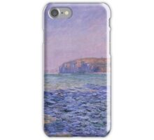 Claude Monet - Shadows on the Sea. The Cliffs at Pourville (1882) iPhone Case/Skin