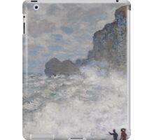 Claude Monet - Rough weather at Etretat, Impressionism iPad Case/Skin