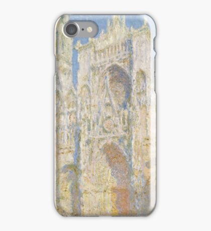 Claude Monet - Rouen Cathedral.  West Facade.  Sunlight  , Impressionism iPhone Case/Skin