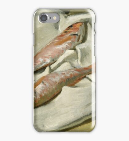 Claude Monet - Red Mullets,  Impressionism iPhone Case/Skin