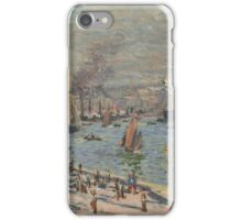 Claude Monet - Port of Le Havre ,  Impressionism iPhone Case/Skin