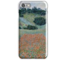 Claude Monet - Poppy Field in a Hollow near Giverny , Impressionism iPhone Case/Skin